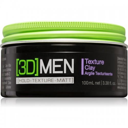 Schwarzkopf 3D Men Texture Clay Güçlü Tutucu Mat Kil Wax 100 ml